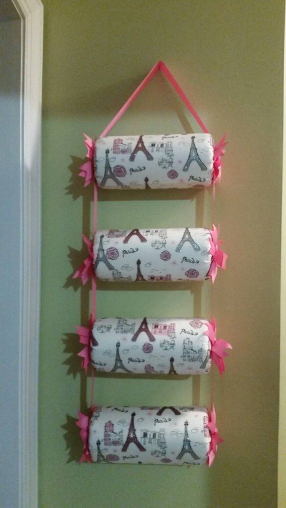 Headband Holder or head band organizer Hot pink Paris 4 tiers