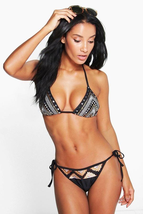 5545a3b8ced0d boohoo Nepal Boutique Sequin Triangle Bikini