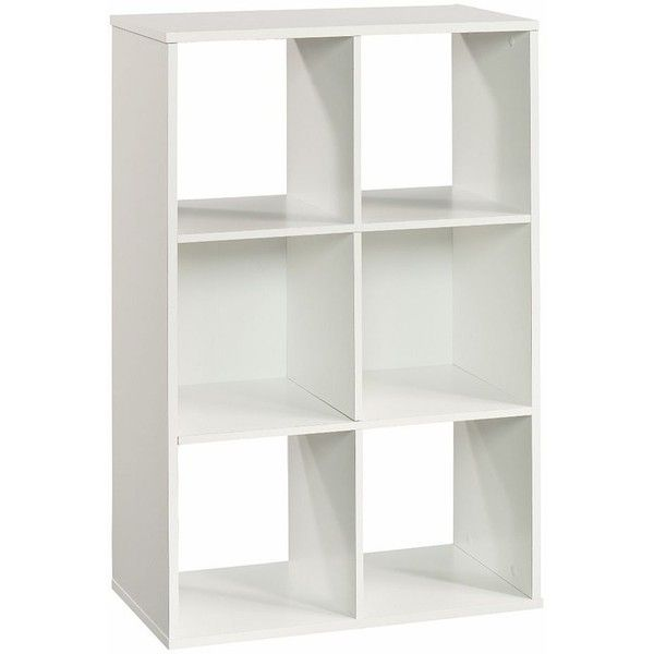 Superbe Simple By Design 6 Cube Modular Storage Cubby Bookcase (White) ($75)