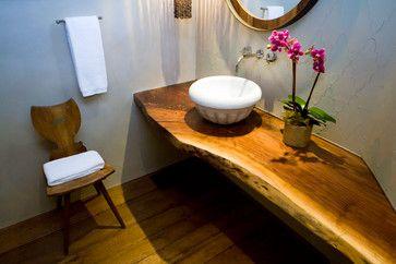 Live Edge Bathroom Counter Top Yes Cheap Countertops Diy