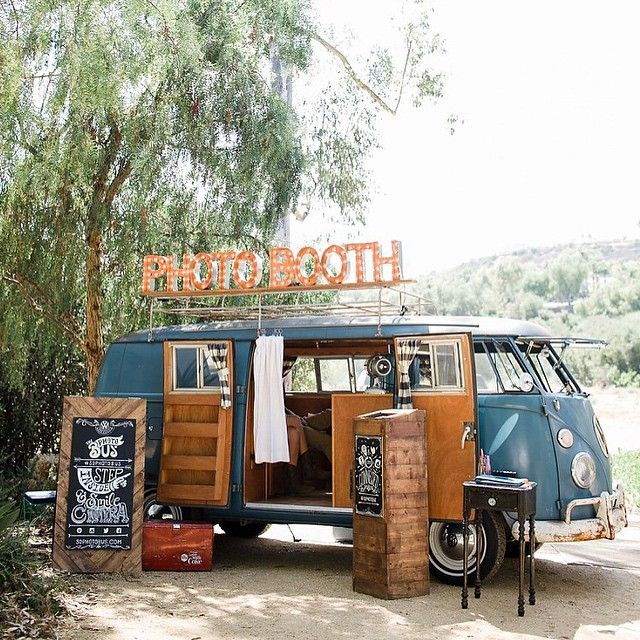 """I think the @sdphotobus just might be the cutest Photo Booth I've seen!! As seen in the San Diego #bohowedding we are sharing #onGWS today. Photo by…"""
