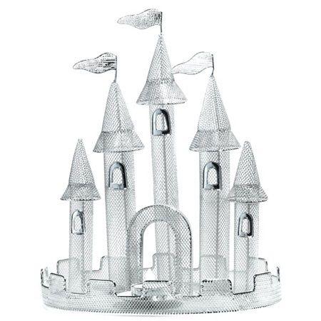 decoration silver wire castle