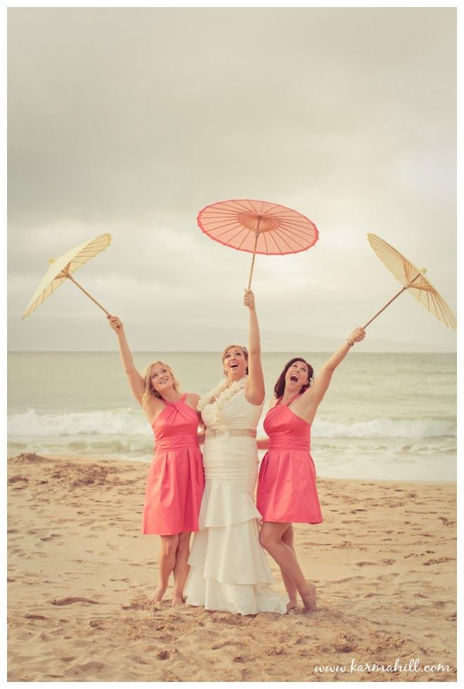 Fun Pink Bridesmaid Dresses