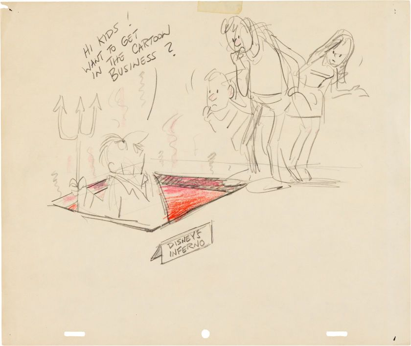 Animation Art:Production Drawing, Disney Studio Gag Drawing Group (Walt Disney, 1930s-50s)....(Total: 2 Items) Image #3