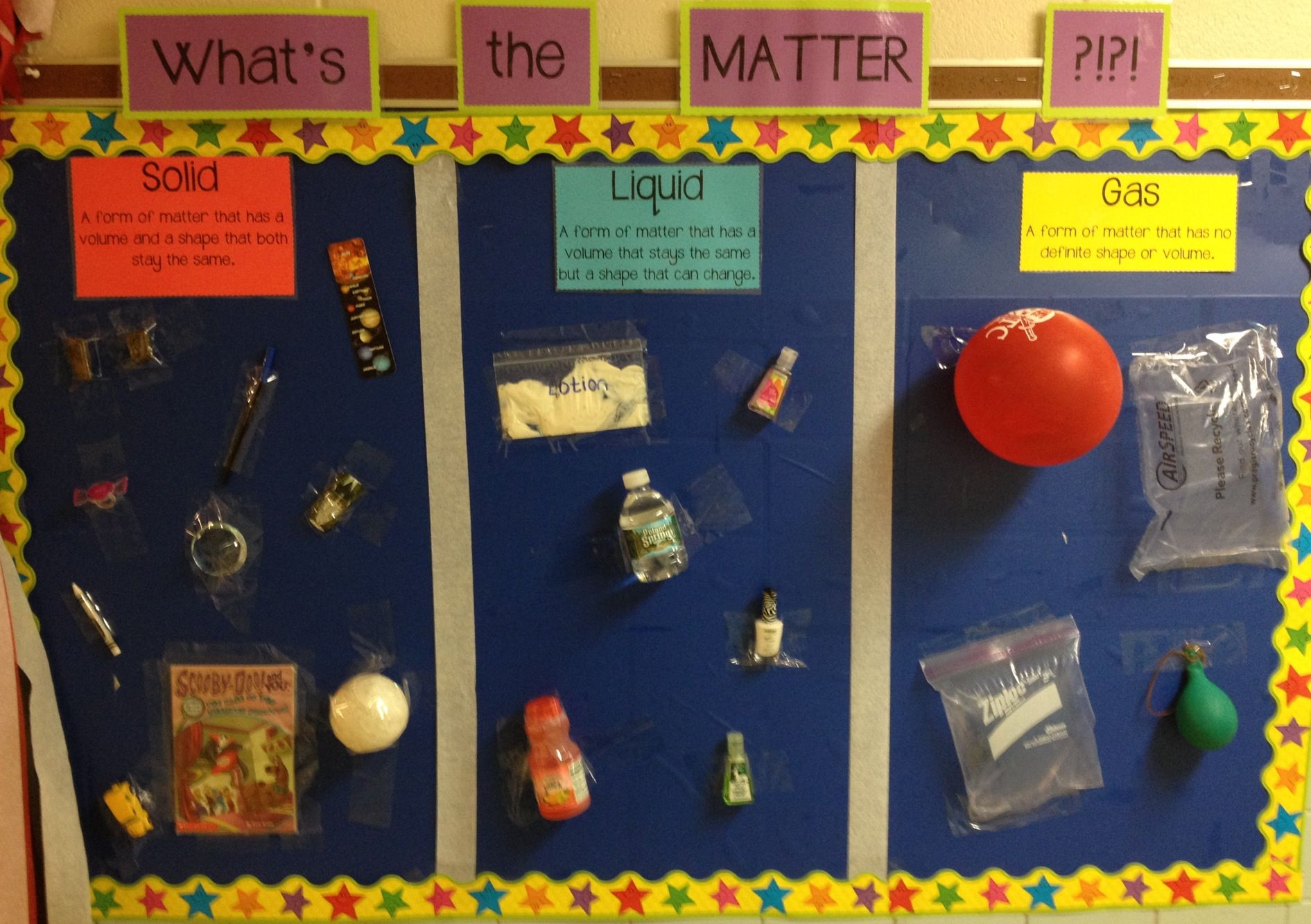 Bulletin Board Solid Liquid And Gas What S The Matter