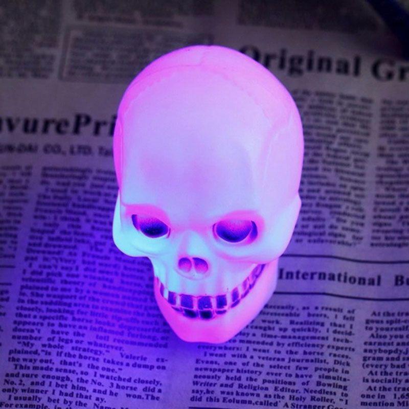 2016 New Wholesale 1pc Skull Mix LED Flash Light scary novelty night - outdoor christmas decorations wholesale