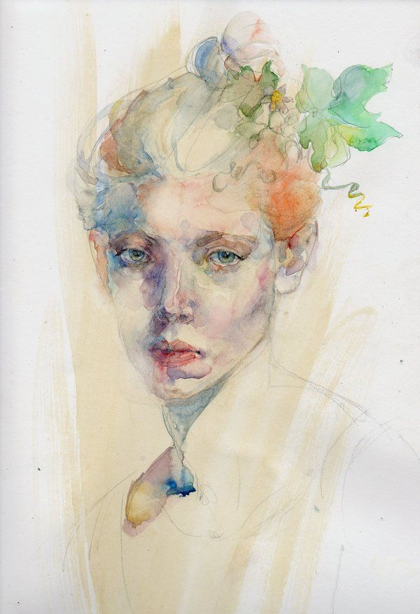 Watercolor Portrait By Konnova On Deviantart Portraits