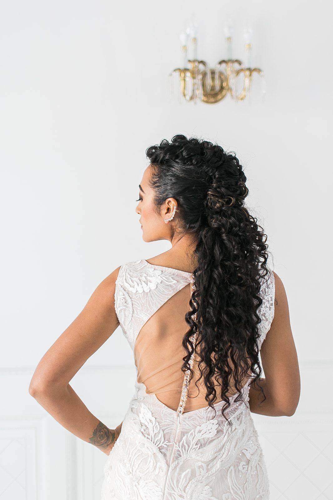 Half fauxhawk, half cascading curls, totally stunning
