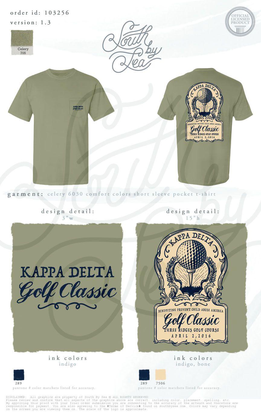Shirt design vintage - Kappa Delta Kd Golf Classic Philanthropy T Shirt Design Vintage T