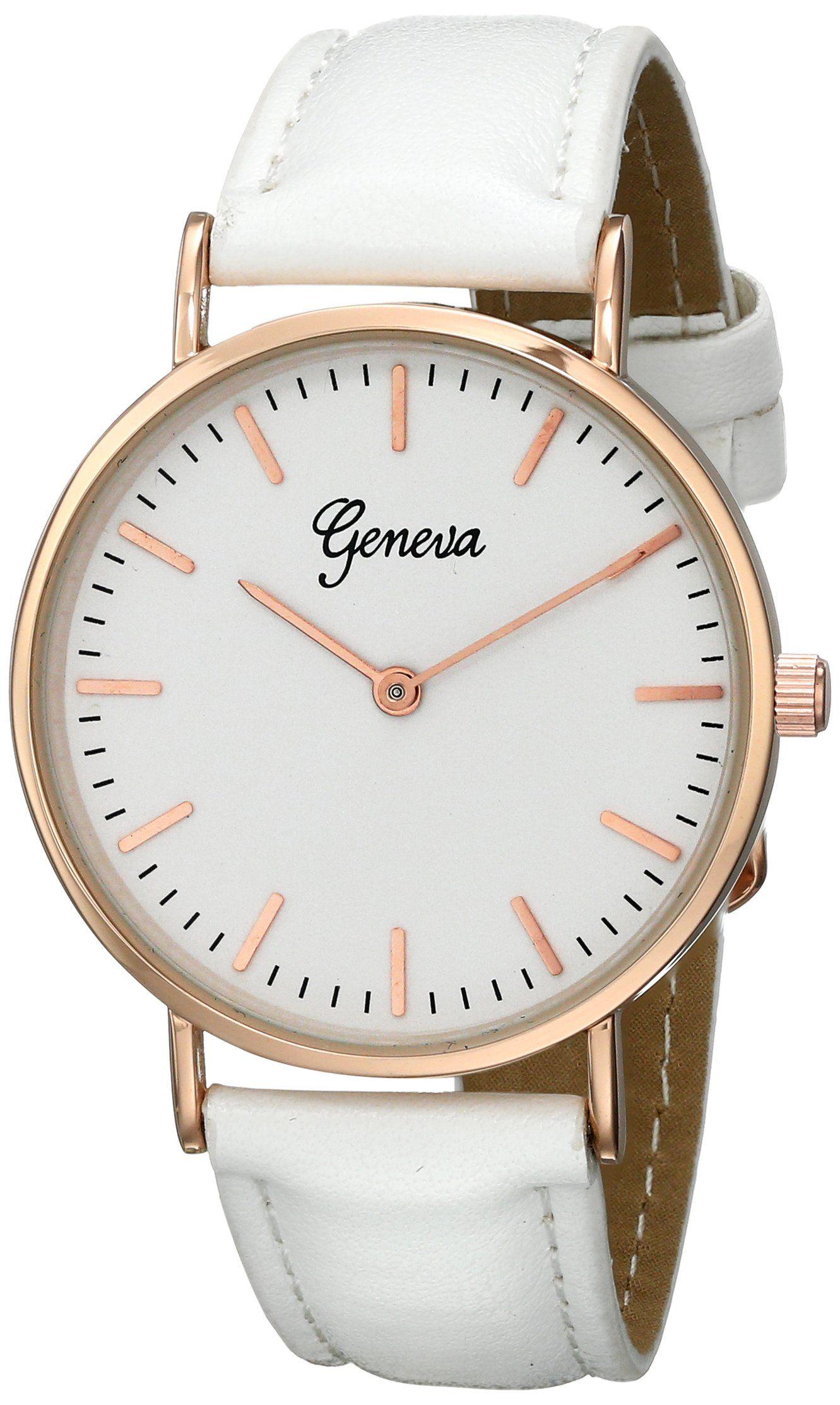 Geneva Women's 1670I-GEN Digital Display Quartz White Watch