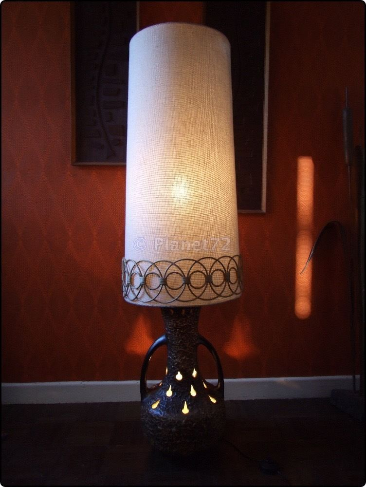 Huge Lava Lamp Beauteous Retro Vtg 60S 70S West German Fat Lava Huge Floor Lamp Twin Bulb Decorating Inspiration