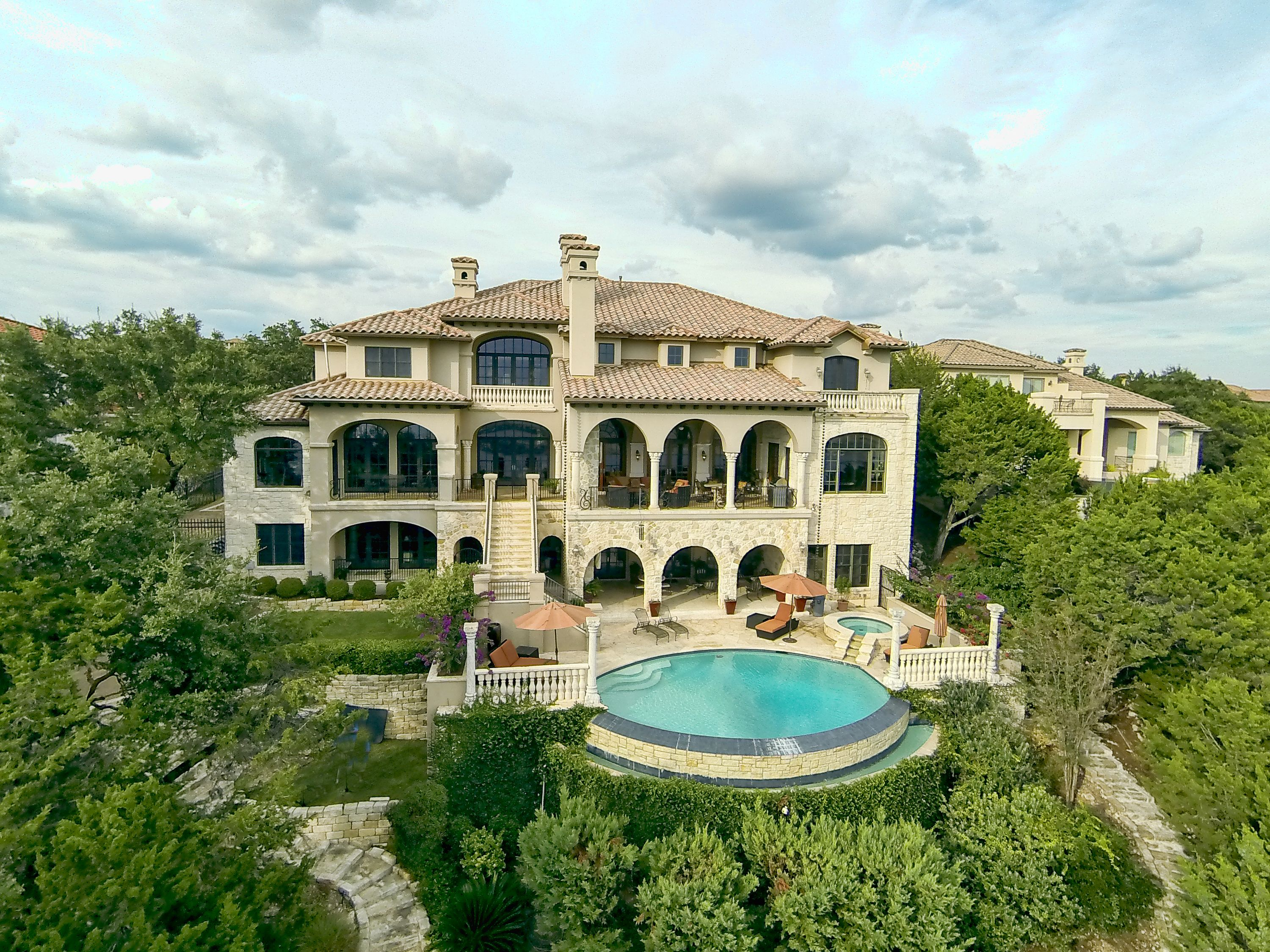 This waterfront estate is located on a