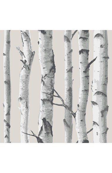 Wallpops Birch Tree Peel Stick Vinyl Wallpaper Vinilovye