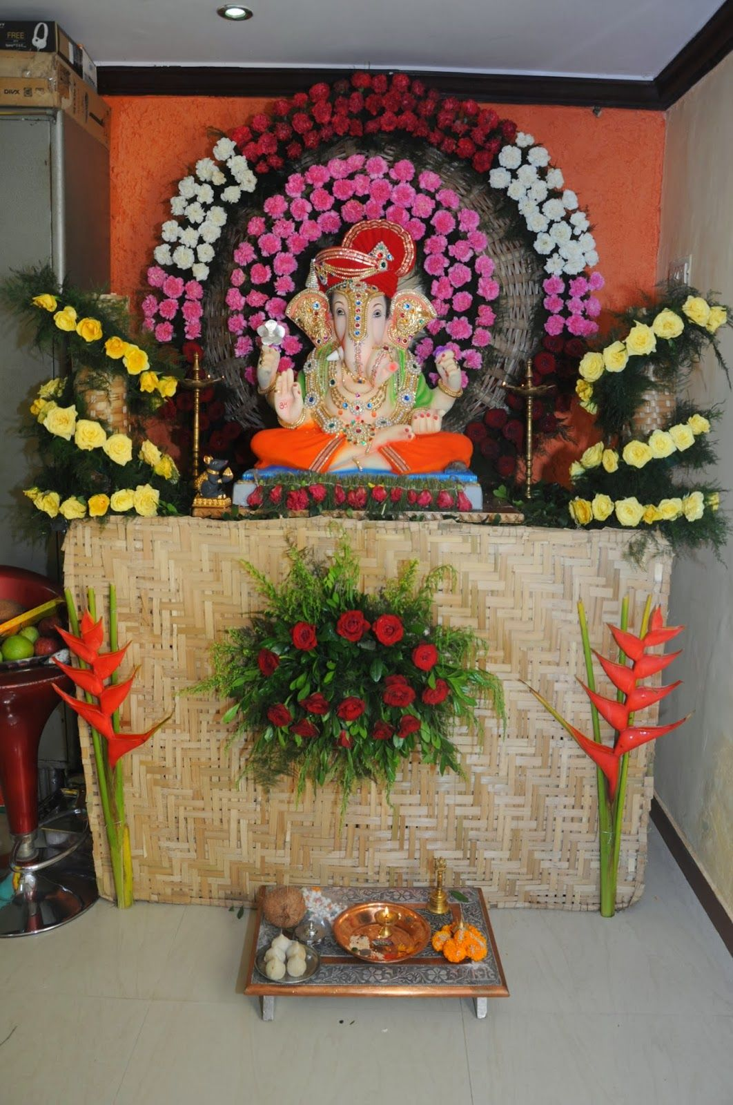 ecofriendly decoration ideas _Anant Harishchandra Shinde 2.JPG ... for Flower Decoration Ideas For Ganpati  588gtk