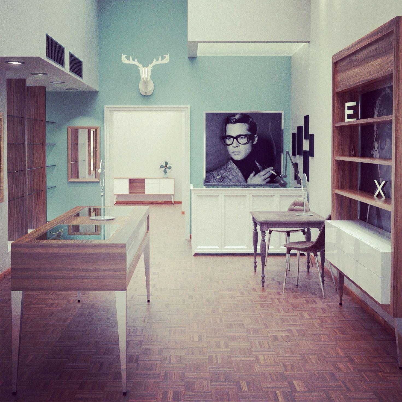 WIP z-architects optics store design.