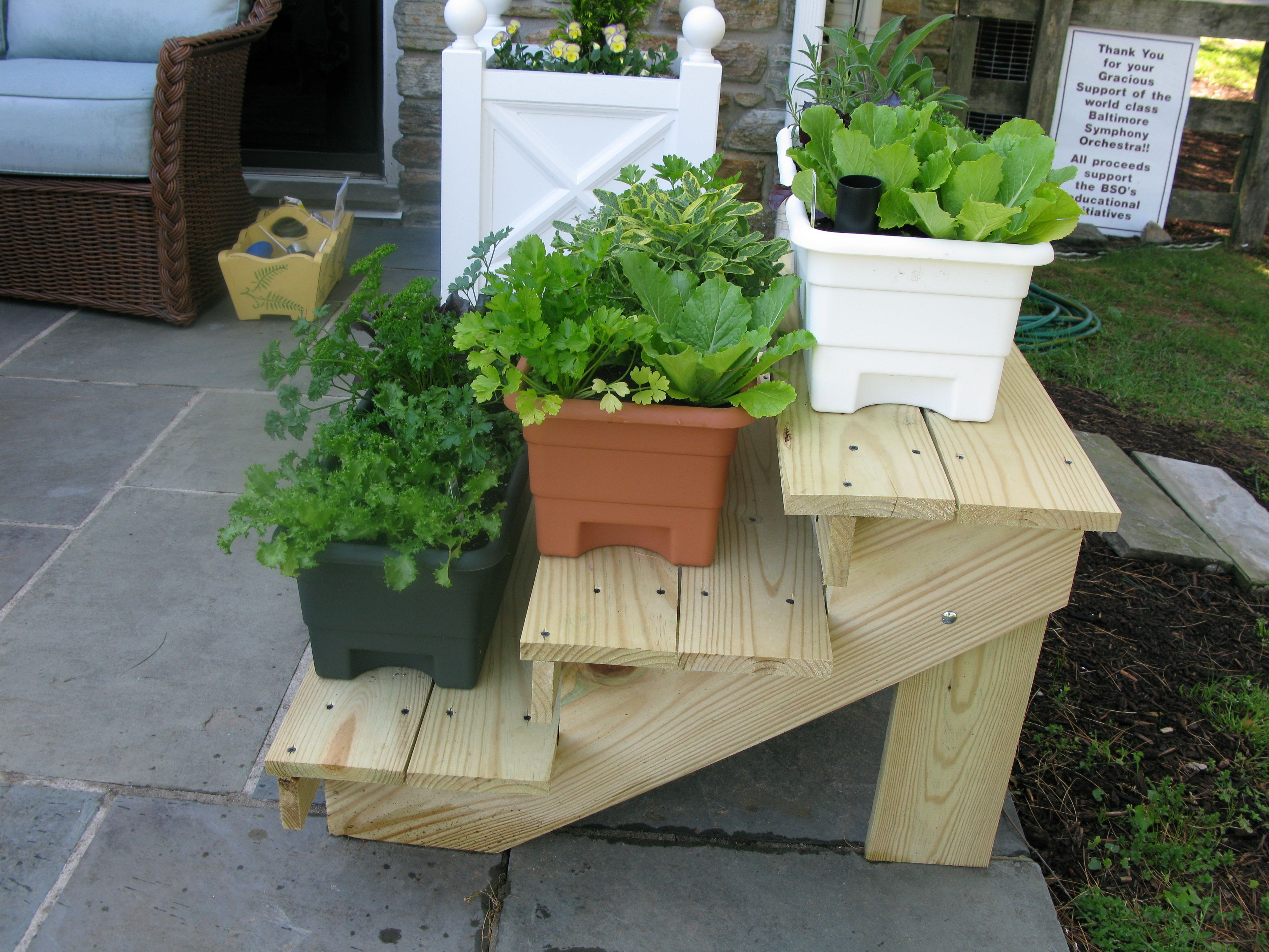 Incredible Tiered Plant Stand Design Bring Freshness