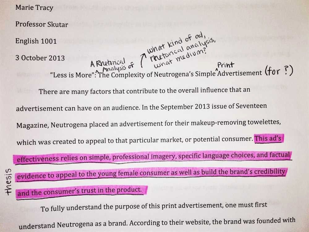 Advertisement Analysi Essay Sample Lovely Ad On Rhetorical Example