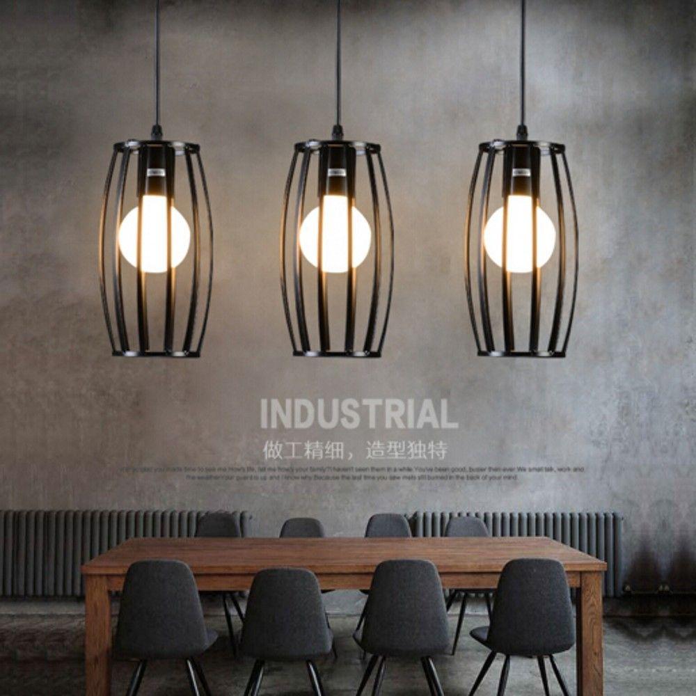 Rétro pendentif lampe Edison Loft Style Vintage métal industriel ...