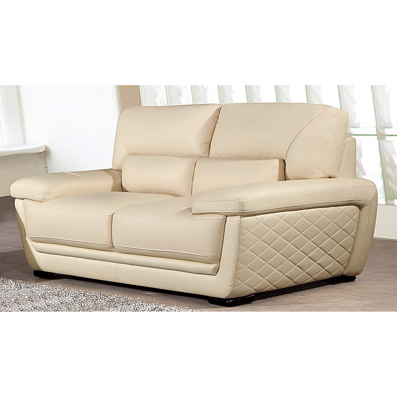 American Eagle Furniture Georgiana Leather Beige: American Eagle Furniture Emma Loveseat With Pillow Top