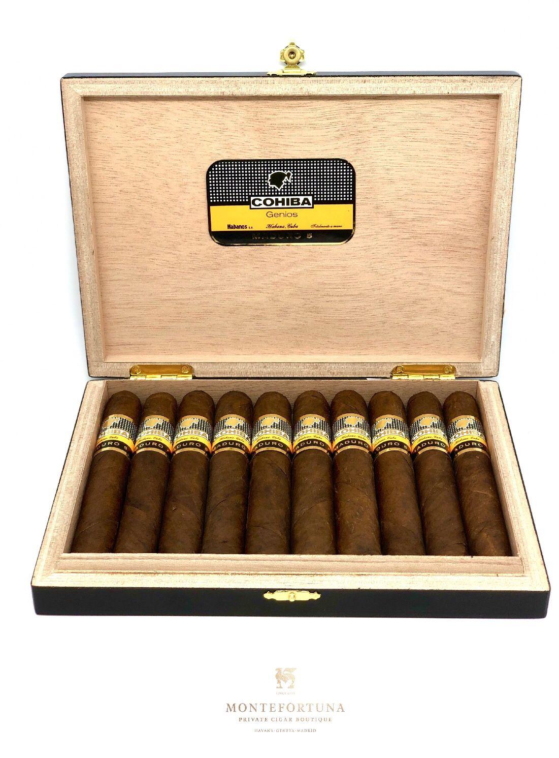 cohiba maduro genios puros cigars, cuban cigars, buy cigars onlineavailable at montefortuna cigars cigars for sale, buy cigars online, cigar shops, cuban