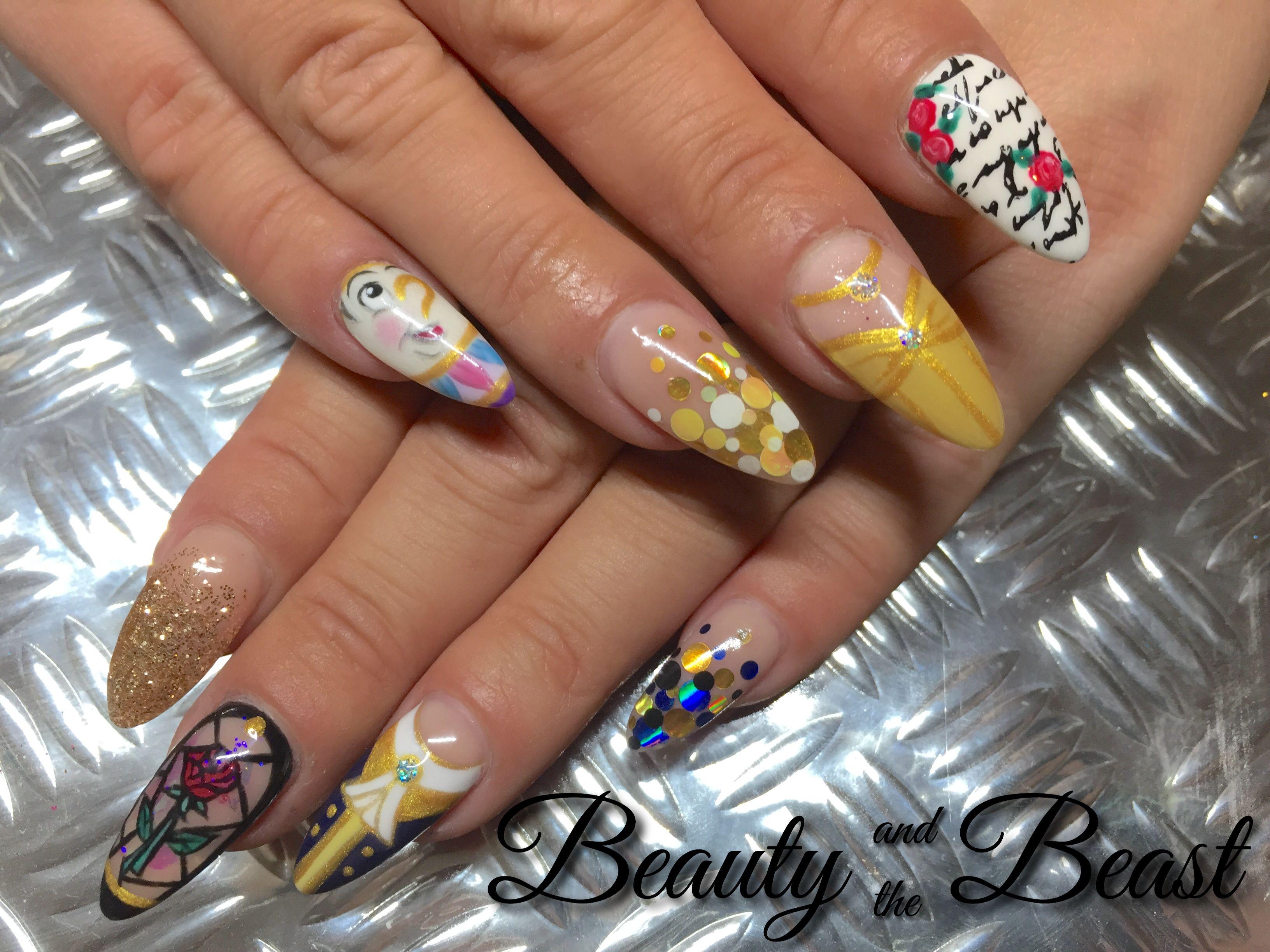 Beauty And The Beast Nails Nail Art Disney Princess X