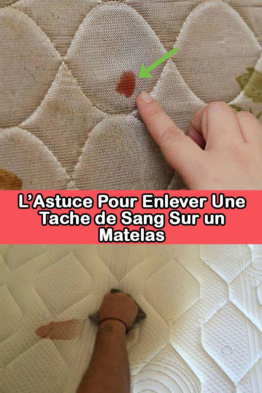 Nettoyer Une Tache De Sang : nettoyer, tache, L'Astuce, Enlever, Tache, Matelas, Sang,, Comment, Nettoyer