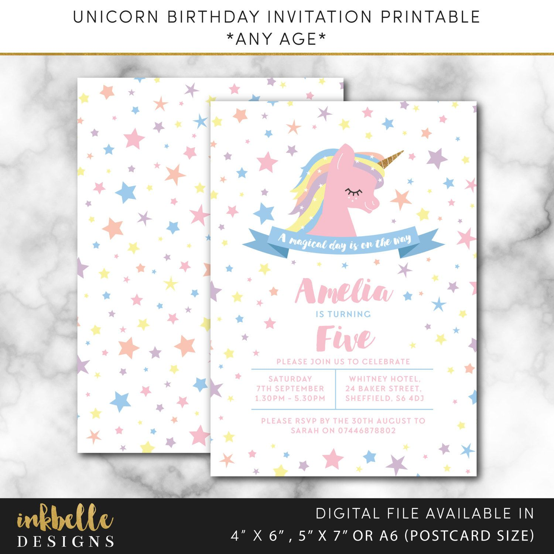 Unicorn birthday invitation birthday invite digital file pdf unicorn birthday invitation birthday invite digital file pdf unicorn princess invitation birthday girl invitation birthday printable filmwisefo