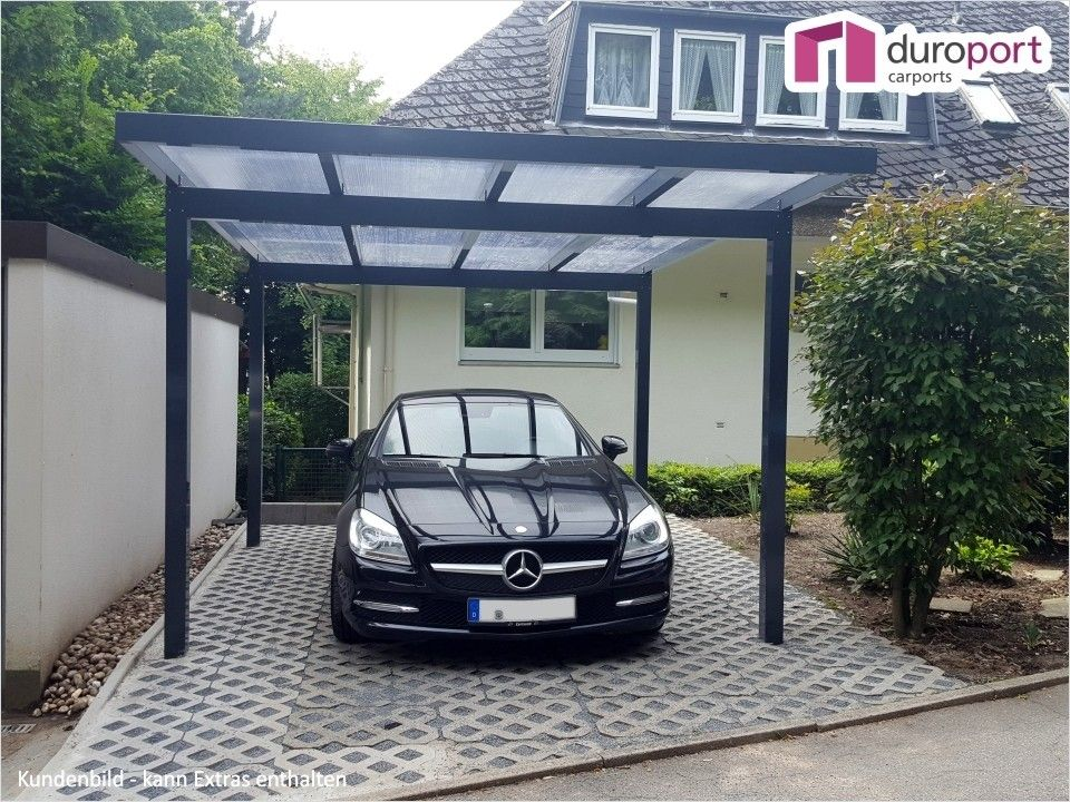 Duroport Flachdach Einzelcarport Aus Aluminium Made In Germany Carport Aus Aluminium Carport Dach
