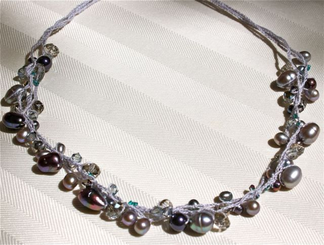 Beaded Crochet Necklace I can make...free pattern | Jewelry ...