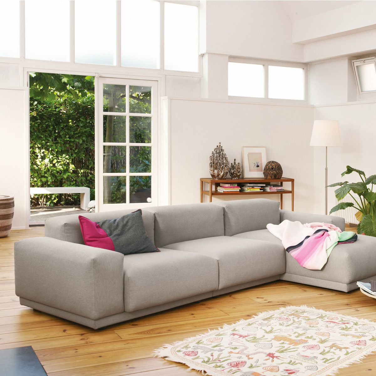 vitra place sofa 3 sitzer wohnzimmer. Black Bedroom Furniture Sets. Home Design Ideas