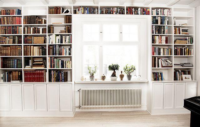 Platsbyggd bokhylla Vardagsrum, Böcker och Inredning