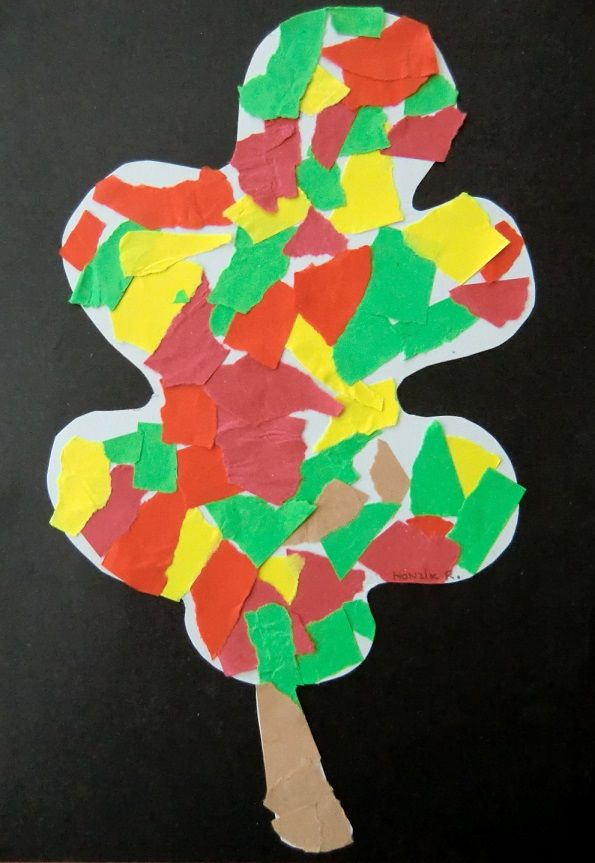 Mozaika stromu podzim v tvarn n m ty pinterest for Angebote kindergarten herbst