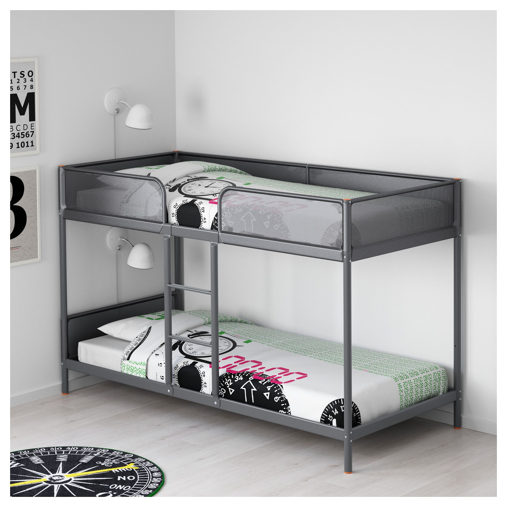 IKEA TUFFING Bunk Bed Frame A Good Solution Where Space Is Limited