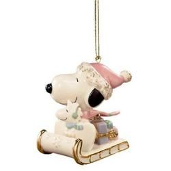 Lenox snoopy ornament! My favorite,  it always goes near top front of my tree!!