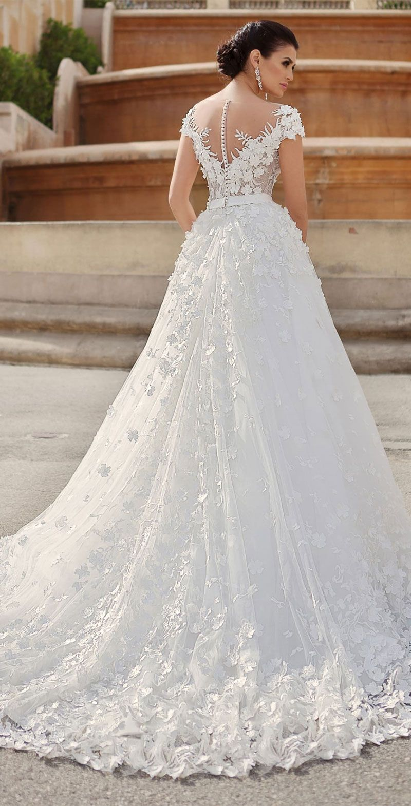 Gabbiano Wedding Dresses - Princess Dreams Collection embellishment wedding dress #bride #bridalgown #weddingdress #weddinggown #weddingdresses