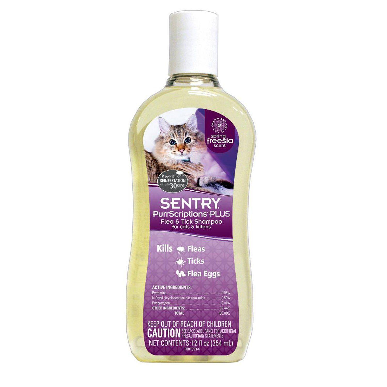 Sentry PurrScriptions Plus Flea & Tick Shampoo for Cats
