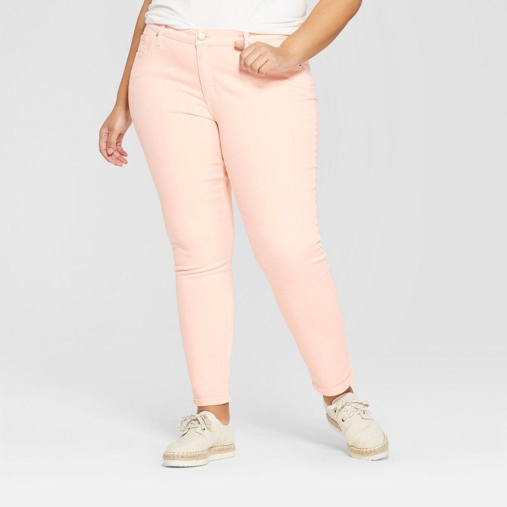 b575c139dbbc9 Women s Plus Size Skinny Jeans - Universal Thread Peach 18W