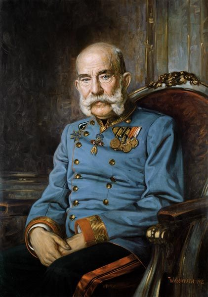 Emperor Franz-Joseph- My bohemian great grandparents fled his empire and came to America to avoid being drafted into his army.
