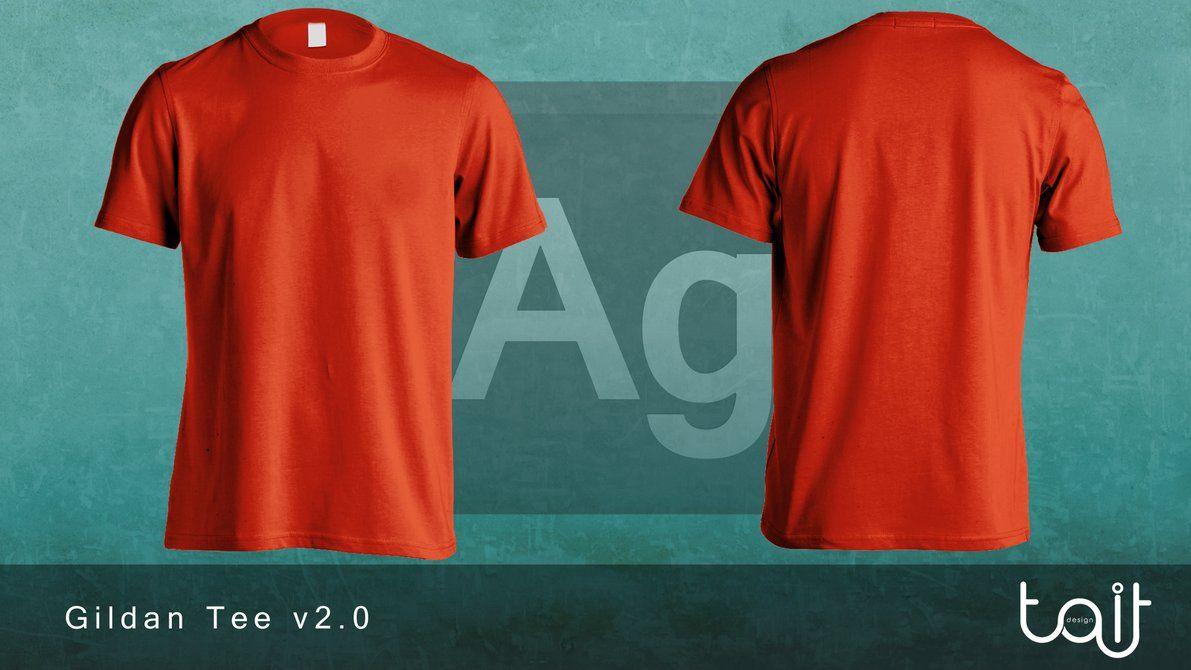 Download Gildan Tee V2 0 By Theapparelguy On Deviantart Shirt Mockup Shirt Template T Shirt