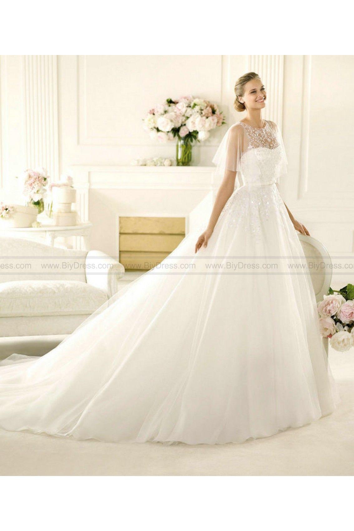 Wedding Gown - Style Pronovias Vega Tulle Embroidery