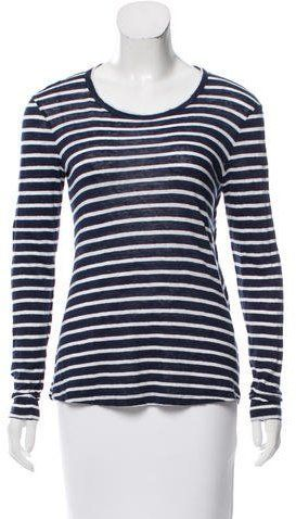 A.L.C. Linen Striped Top