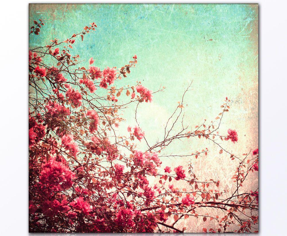 80x80cm Wandbild Xxl KirschblÜten Vintage Style Kunstdruck Leinwand Ebay Vintage Flowers Wallpaper Vintage Floral Backgrounds Vintage Desktop Wallpapers