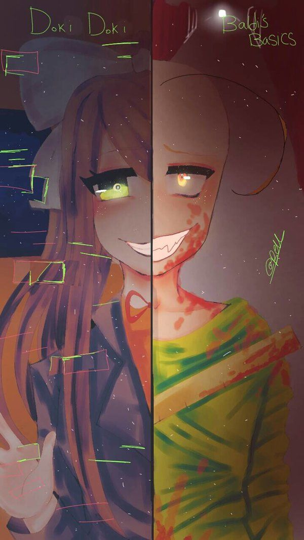 Baldi S Basics Vs Doki Doki By Farah200 Anime Literature Club