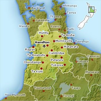 HamiltonWaikato Map New Zealand Things Clark Loves Pinterest