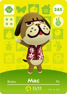 Mac - Nintendo Animal Crossing Happy Home Designer Amiibo Card - 245 ...