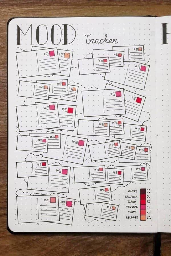 30 Best September Mood Tracker Ideas For Bullet Journals - Crazy Laura