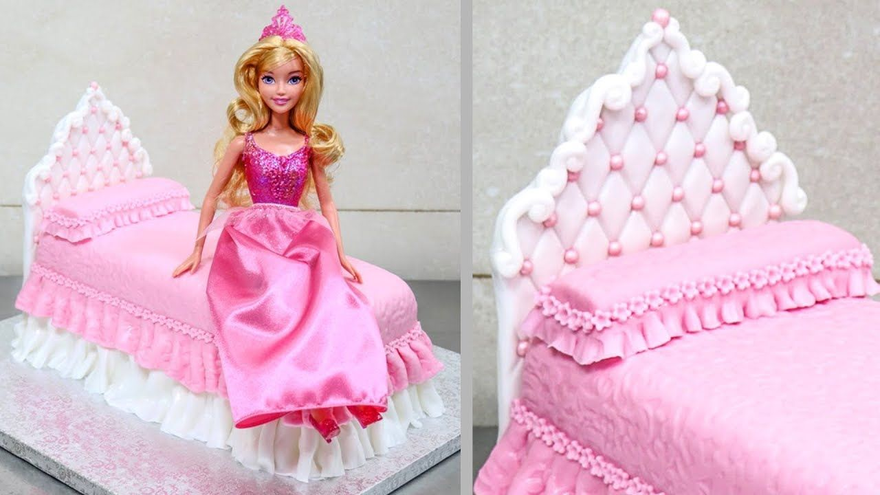 Barbie Doll Cake Design Bed Birthday Cake Ideas How To Make