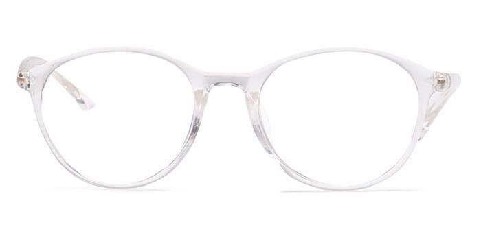 133ab38853a9e Graviate E50B4653 Transparent Full Frame Round Eyeglasses for Men and Women