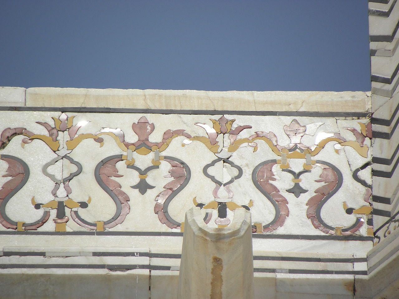 Taj Mahal Detail 1631 47 Agra India With Images Islamic