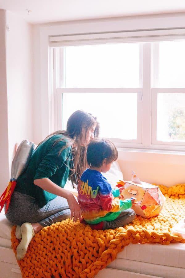 Toddler Preschooler Girl/'s Colorful House /& Fish Crayon Drawing Pearl Dress